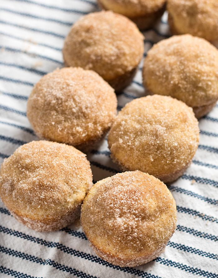 Cinnamon sugar muffins.