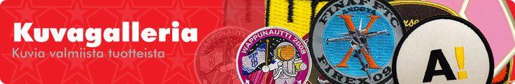 Kuvagalleria - Haalarimerkit, kangasmerkit, kaulanauhat ja pinssit. Käy kuvagalleriassamme tutustumassa tuotteisiimme! http://www.promler.fi/gallery.html