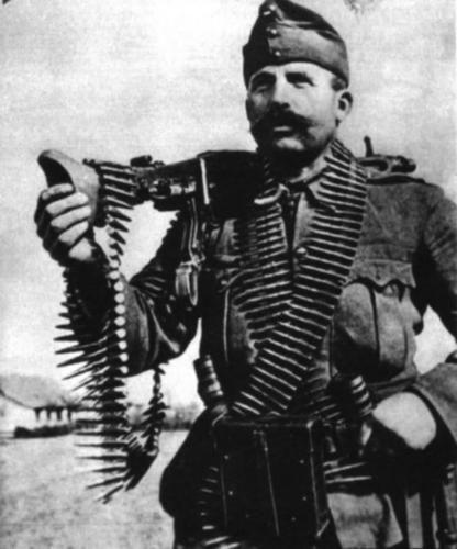Hungarian Infantryman. With an MG-42.: