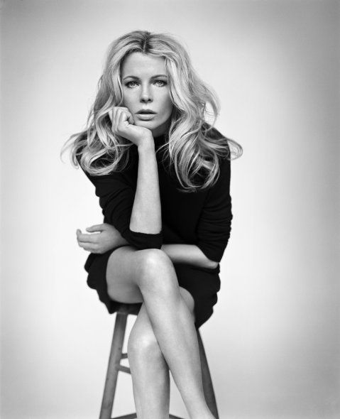 "She's rocking the cliche ""sit on this stool and pose"" concept. Kim Basinger by Vincent Peters"