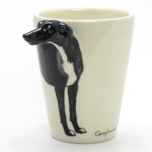 Black Greyhound Dog Lover Mug