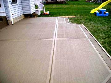 17 Best images about concrete flatwork on Pinterest ... on Poured Concrete Patio Ideas id=96914