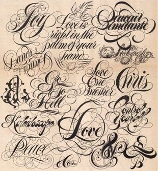 #typographic #tattoo #fonts