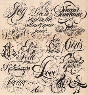 #typographic #tattoo #fonts