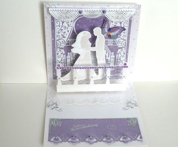 Popup Karte Hochzeit Nr. 421 von *M&M Bastelparadies* auf DaWanda.com