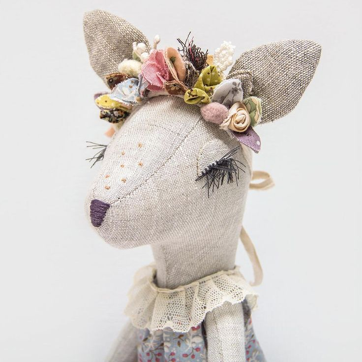 """409 Likes, 42 Comments - Lena Bekh (@lenabekh) on Instagram: """"This Fawn girl with a flower crown is already dreaming about spring. You can find her in my Etsy…"""""""