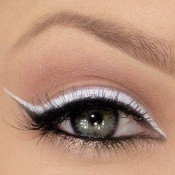 Black and white eye liner
