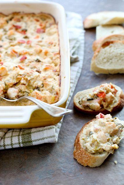 Gumbo Dip made with shrimp and Cajun seasonings.