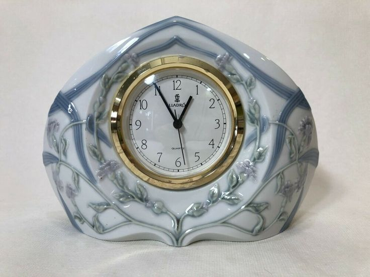 Vintage Lladro Segovia Large Clock Works Retired Daisa 8 1 4 Wide 5 3 4 H Lladro In 2020 Clock