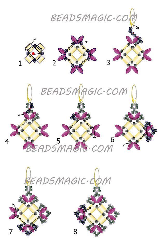 Free Pattern For Earrings Ksenia Beaded Earrings Tutorials
