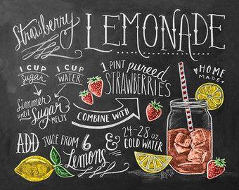 Elegant Sweet Summertime Popsicle Print Chalkboard Art By LilyandVal