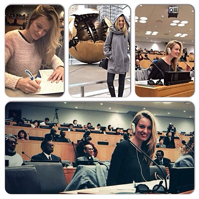 """#RenataZanchi Renata Zanchi: Today I was invited to take part in a peace conference at the United Nations. So many languages and cultures reunited. Amazing experience. """"Life is not about the values you seek, it's about the values you stand for."""" - President Barack Obama. @unitednations #UnitedNations #UN #UnitedNationsHeadquarters #NY #NYC #Manhattan #Peace #PeaceConference #guest #model #Italy #Italian #italianmodel #renatazanchi #languages #cultures #values #blessed #happin"""