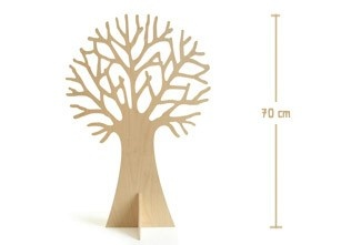 ik vind dit wel wat, wooden tree to decorate according to the seasons. Made by adults with learning difficulties