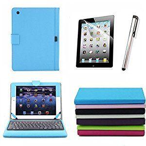 Amazon.com: Ruban® Premium New Wireless Bluetooth Keyboard Folio PU Leather Case Cover Magnetic Smart Stand for iPad 2 New Apple iPad 3 3rd Gen & Ipad 4 Gen (For iPad 4/3/2, Sky Blue): Computers & Accessories