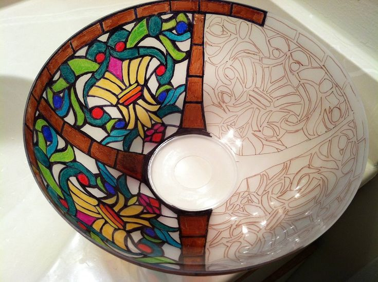 A Tiffany style lamp colored with...SHARPIE MARKERS!
