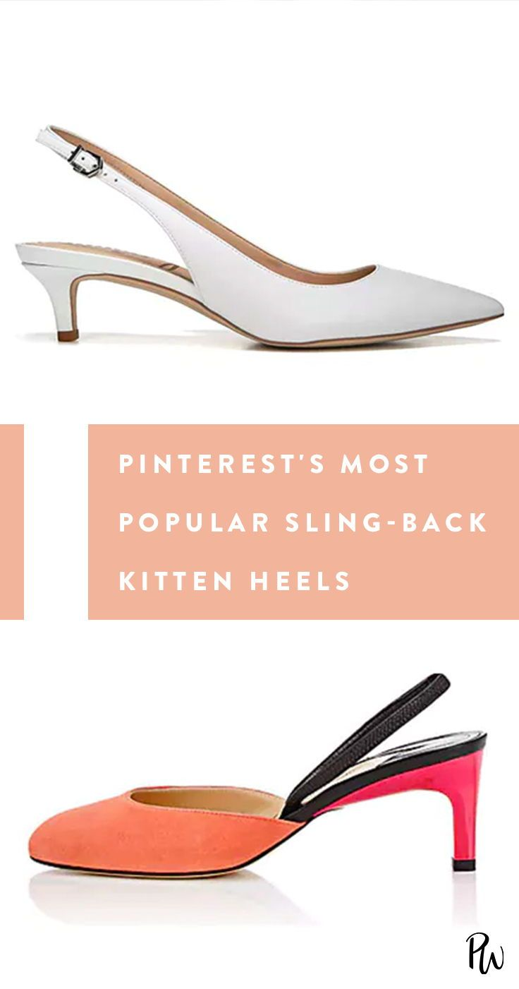 The Most Popular Slingback Kitten Heels According To Pinterest Kitten Heels Outfit Heels Outfits Kitten Heels