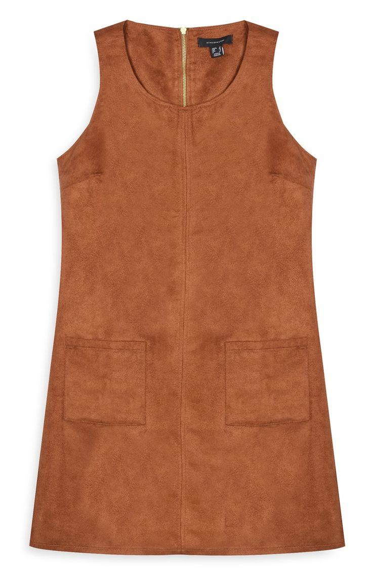 Primark - Brown Suede Tunic Dress