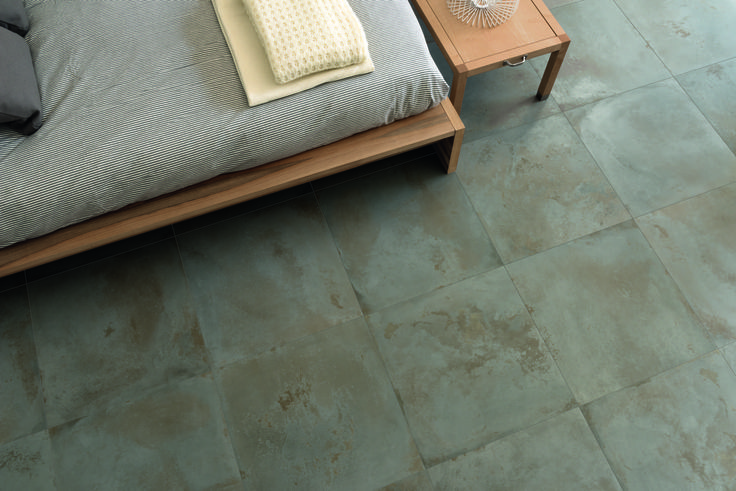 www.caesarceramicsusa.com #Foundry26 in oxide color is the porcelain stoneware metal look which enhances with contemporary style your intimate spaces. #porcelain #metal #look #metal #effect #tiles #surfaces #indoor #interior #design #architecture #flooring #floor #tiles #caesar #ceramics #ceramiche #caesar