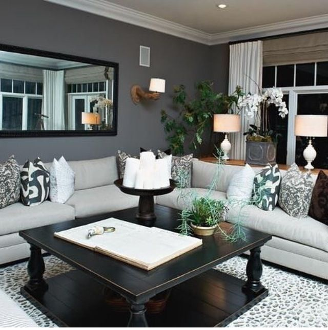 Contemporary Gray Living Room: 11 Best Images About Finished Basements On Pinterest