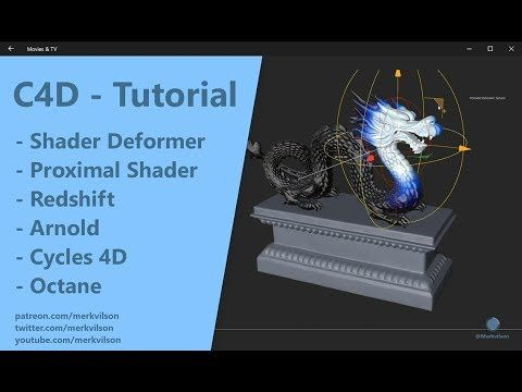 Learn how to create a universal shader deformer in Cinema 4D