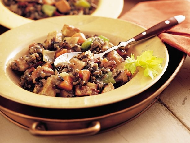 Slow Cooker Herbed Turkey and Wild Rice Casserole (Cooking for 2)