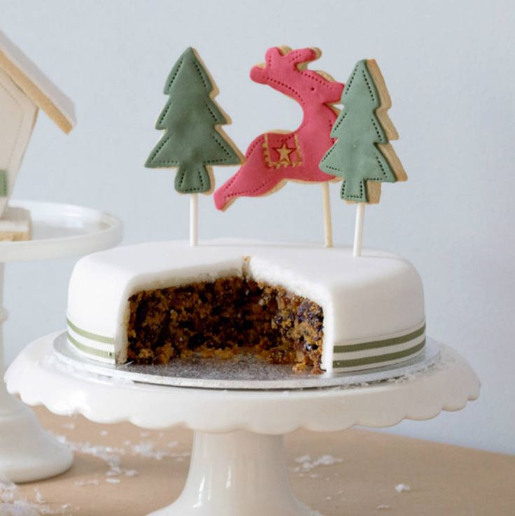 Christmas Cake Topper Decoration by Nila Holden on notonthehighstreet.com