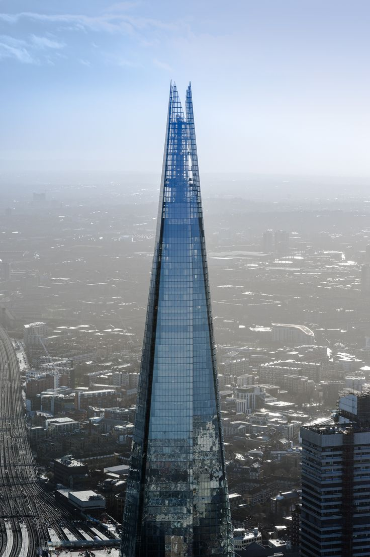"Architectural Digest - This London building is called the ""shard"".  Of Course! renzo piano architecture 05"