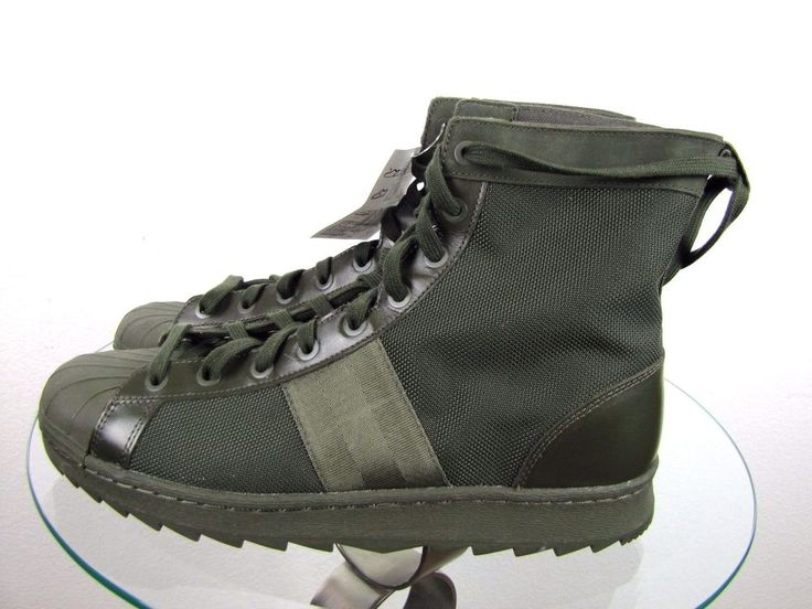 ADIDAS SUPERSTAR JUNGLE BOOTS M25507 ARMY GREEN SIZE MEN'S USA 12 NEW #ADIDAS #AnkleBoots