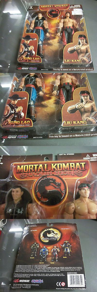 Other Monster Toys 19196: Jazwares Mortal Kombat Shaolin Monks Kung Lao Liu Kang 2 Pack 6 Figures *New -> BUY IT NOW ONLY: $44.99 on eBay!