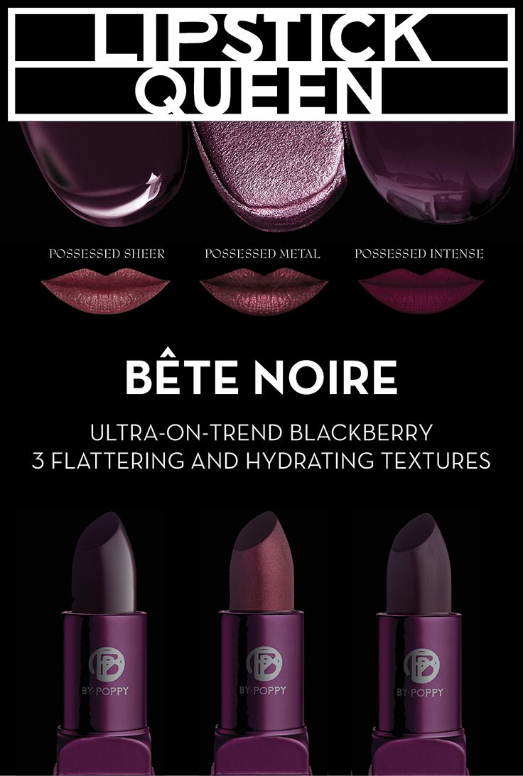 Discover your dark side with Lipstick Queen's new Bete Noir lipsticks.