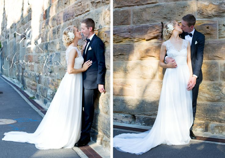 Jemimah & Christopher @ Jessie Rose Photography #sydneywedding #weddingphotography #bride #groom #kiss #love #therockssydney