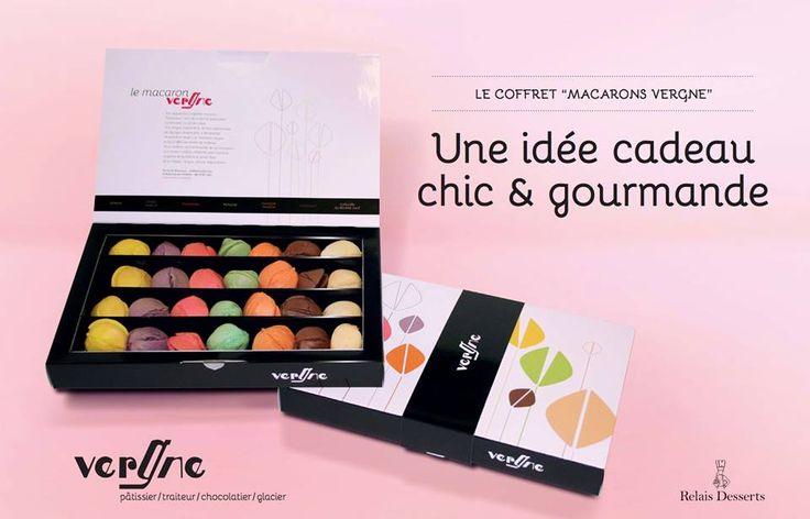 #Communication autour des #macarons #Vergne avec le nouveau #packaging de présentation, incitant à la #gourmandise !