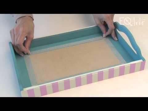 Como realizar decoupage con servilletas y aplicación de vidrio liquido? Eq Arte…