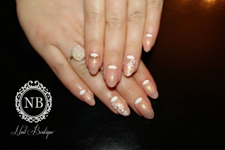 light pink nails, made with perfect simple sparkling nailpolish
