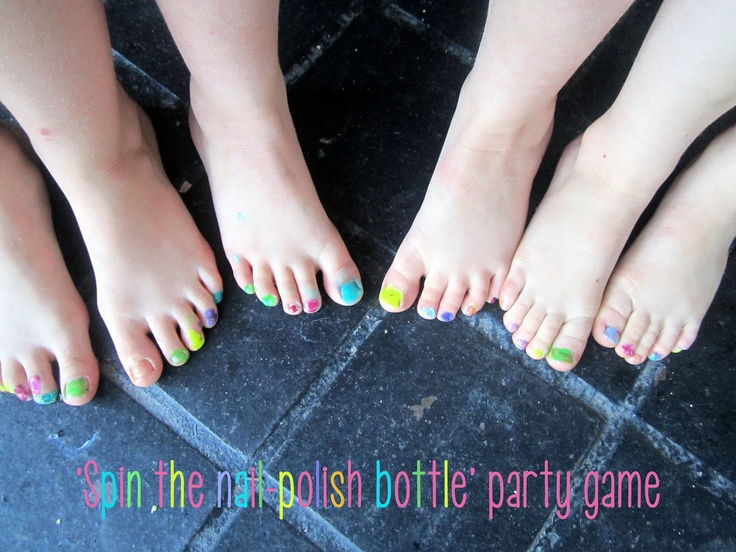 Colourful nail-polish party game for girls (or boys!)