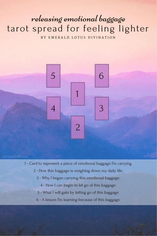 Emotional baggage, trauma, stress – we carry these things around like a piece of luggage. Here's a tarot spread to help you drop some of what you're carrying. For more free tarot spreads, please visit my website: www.emeraldlotus.ca #learningtarotcards #tarotcardsforbeginners