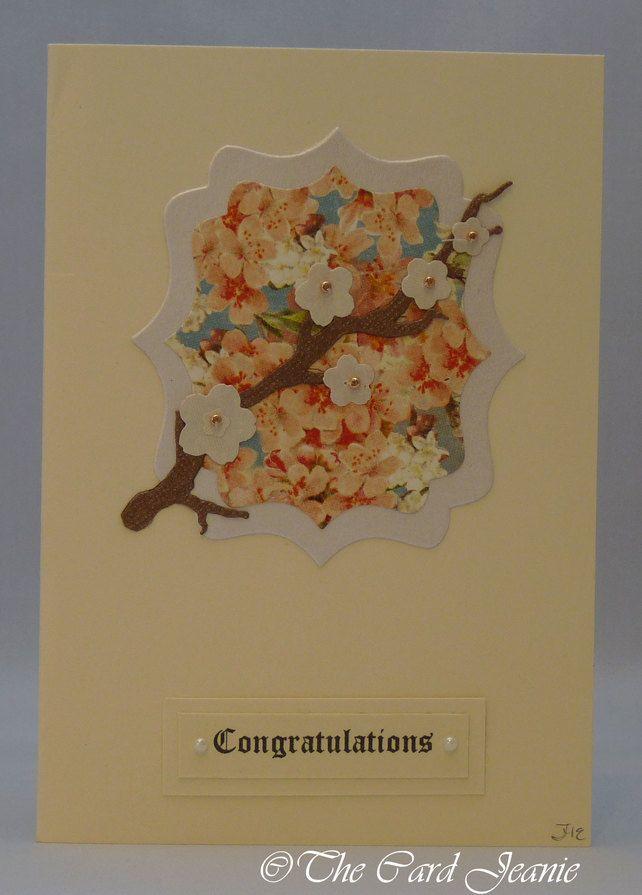 Handmade Card - Cherry Blossoms No. 1 £2.50