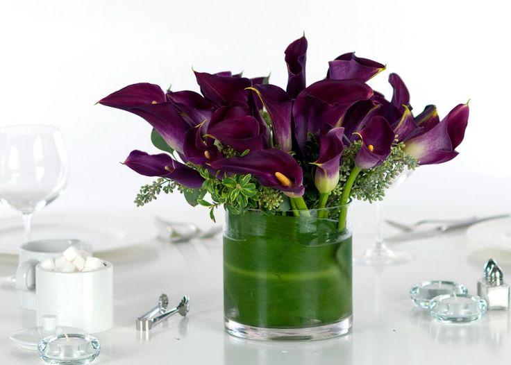 Purple Miniature Calla Lily - Premium - Wedding Centerpiece