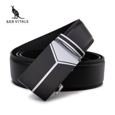 2018 New Men S Fashion Leather Mens Black Belts For Men Luxury Brand
