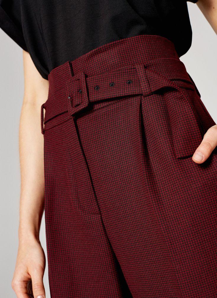 Uterqüe España Product Page - Ropa - Pantalones - Pantalón vichy - 49.95