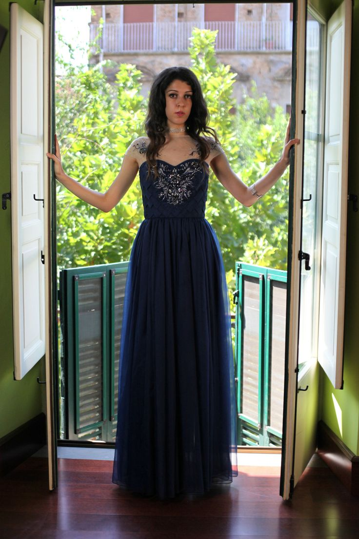 Sneak Peak of SS IMAGO Collection - the Blue Waves Gown - Made of Chiffon 100% Silk and handmade embroidery