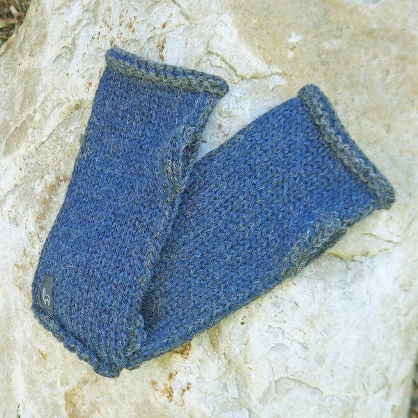 Seriously soft baby alpaca fingerless gloves!