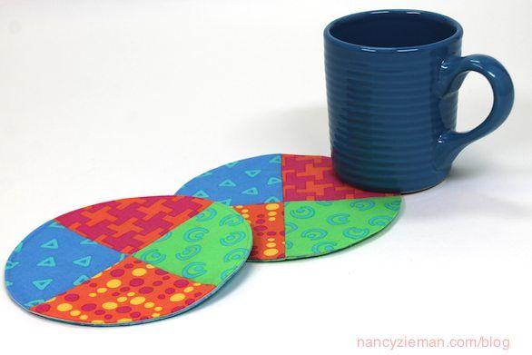 Fabric Scraps Mug Rug Sewing Project