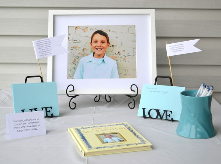 baptism idea's for Hudson's baptism this year!