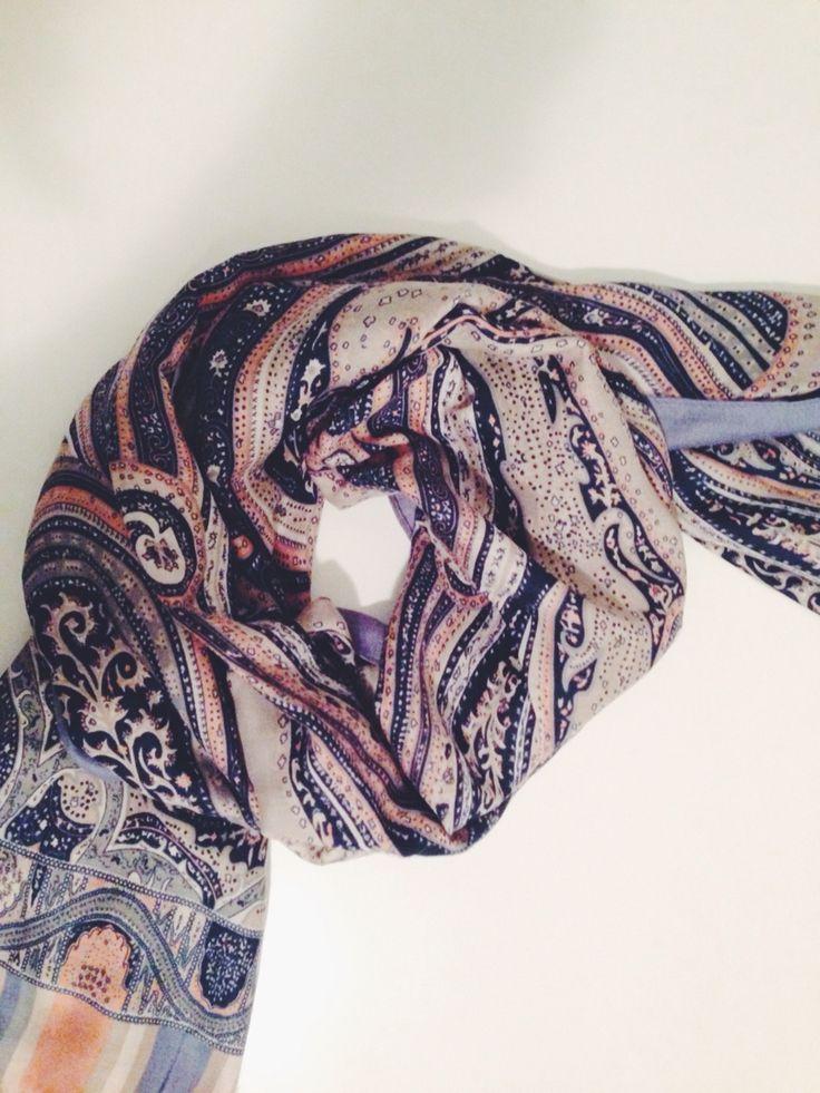 Winter paisley scarf x