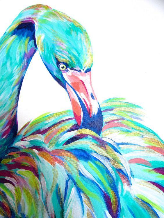 Pin By Noooooon On Flamingo Flamingo Painting Flamingo