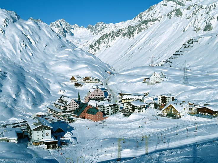 Ski resort at Arlberg in Austria