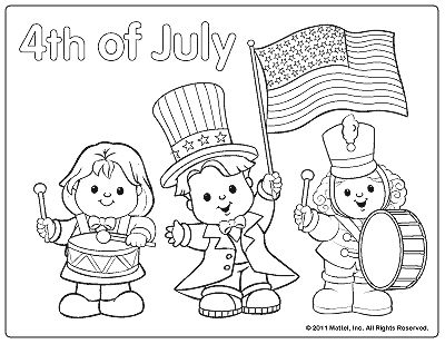 4th of July coloring page- parade