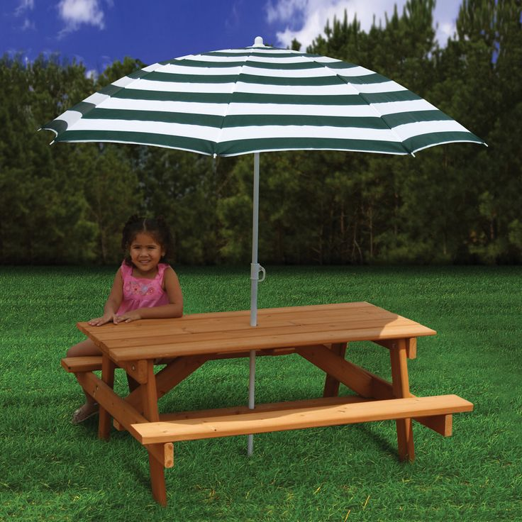 Exceptional Gorilla Playsets 02 3003 Childrenu0027s Picnic Table And Umbrella | ATG Stores