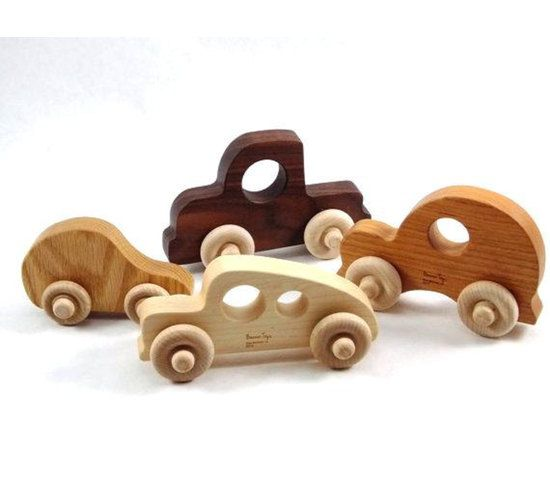 Organic Toy Car Set Of 4 Natural Wooden Toys Wood Baby Toys Wood